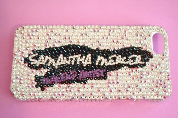 swarovski crystal phone case