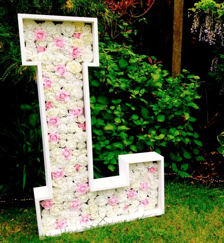 Petals In Love – Handmade Wooden Flower Letters