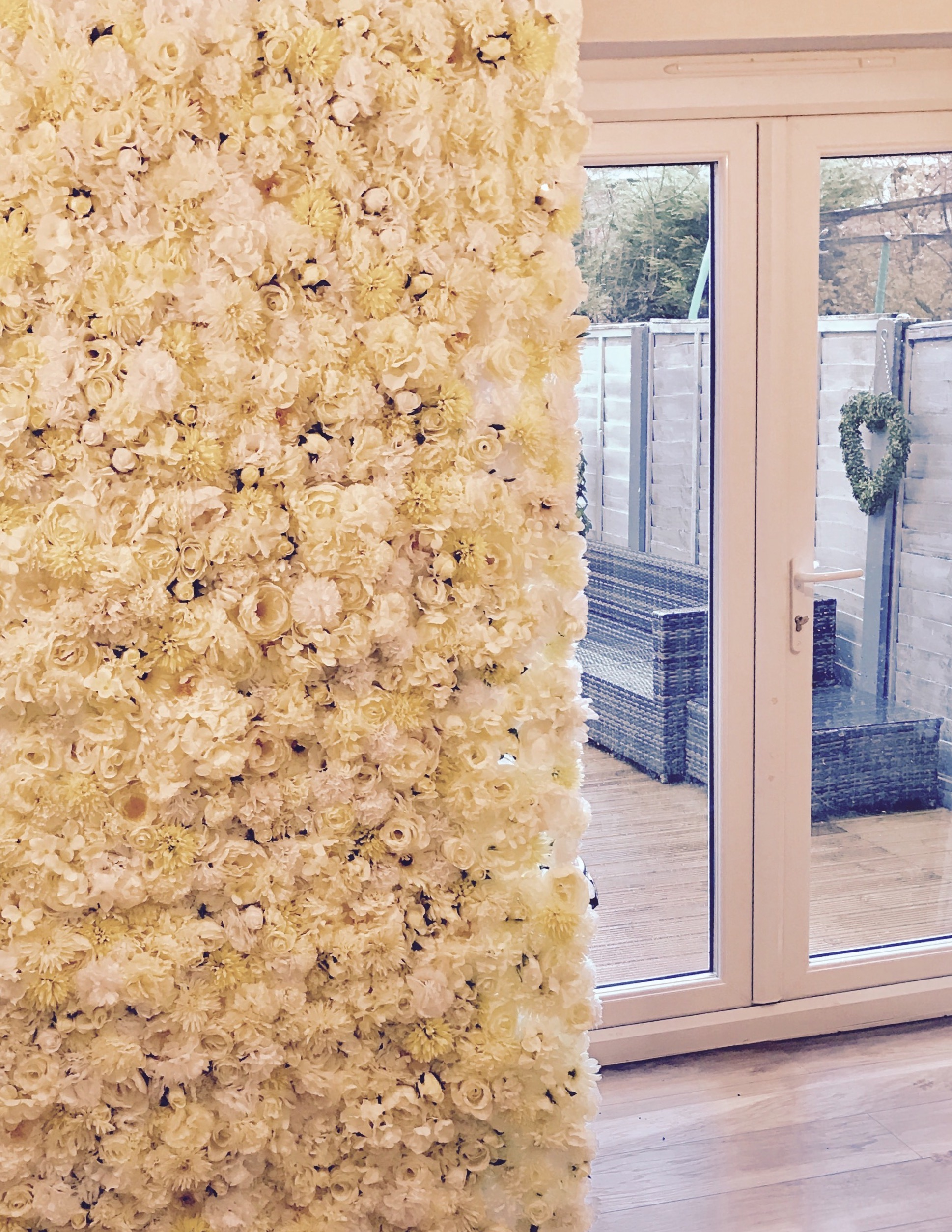 Dollz events offers bespoke floral walls for home designs